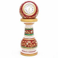 Golden Marble Table Clock Pillar  MB175