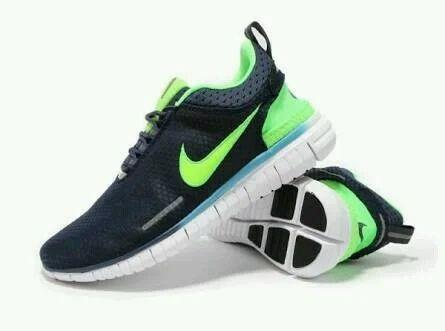 b60084616471c Men Nike Free OG Breathe Navy Blue Green Running Sports Shoes