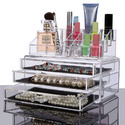 Kawachi Acrylic Makeup Organizer Storage Box For Cosmetic Je