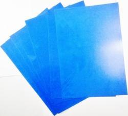 Plastic Blue Rigid File Cover, Packaging Type: Packet
