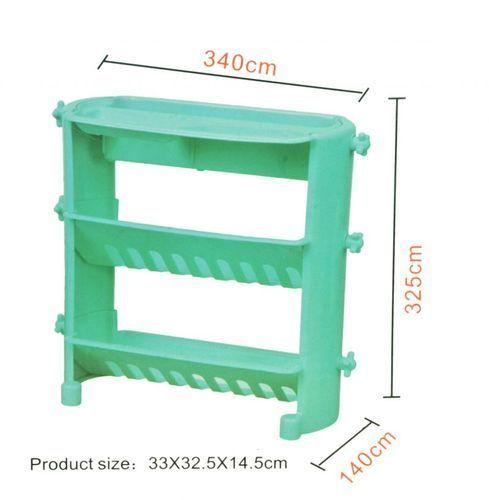 Three Tier Layer Corner Plastic Bathroom Shelf Rack