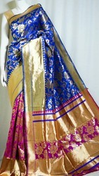 Pure Silk Blue Saree