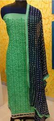 Green Chanderi Salwar Suits