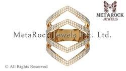 Yellow Gold White Diamond Ring