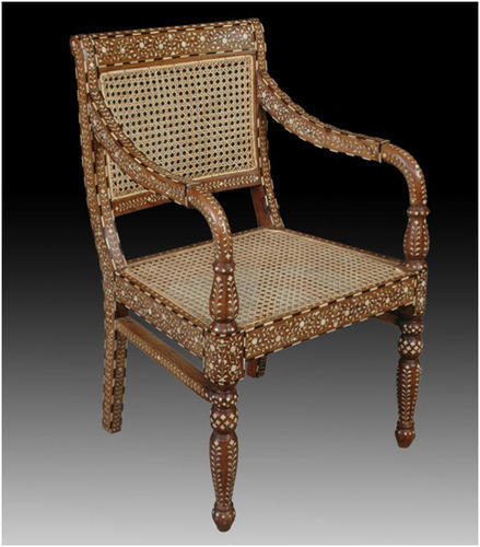 Exceptionnel Anglo Indian Bone Antique Inlay Chair