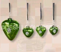 Green Silver Ornaments