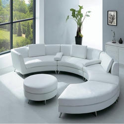 Brown Grey Boss Round Sofa Set