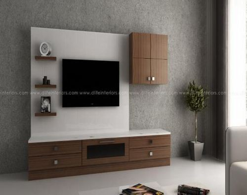Lcd Tv Stand Designs Kerala : Teal lcd tv display unit for living rooms d life