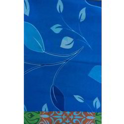 Printed Blue Synthetic Fabric, For Garments, GSM: 200 GSM