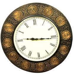 Zodiac Signs Wooden Wall Clock