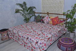 Printed Kantha Quilt For Home