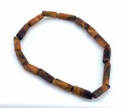 Tiger Eye Bracelet smooth tube shape beads bracelet