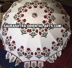 Block Printed Umbrellas