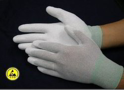 ESD PU Palm Gloves