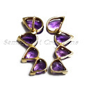 Genuine Amethyst Stud Earrings
