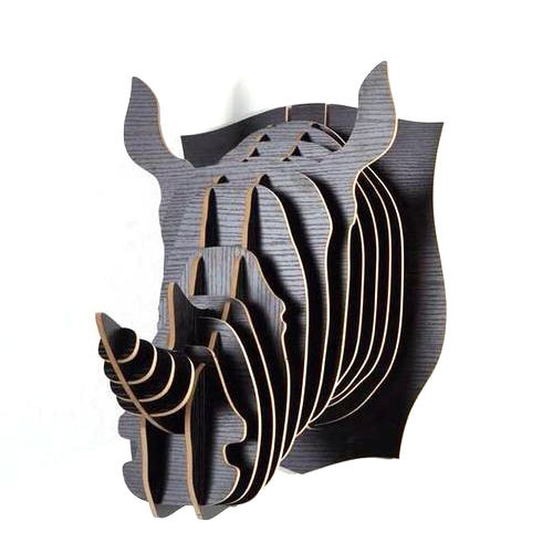 Rhino Head Wall Decor
