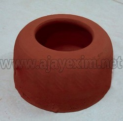 Clay Puppy Food Bowl