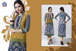 Full Length Printed Kurti