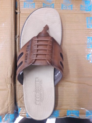 Leather Red Chief Mens Chappal, Ambika
