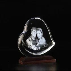 3D Photo Crystal Heart