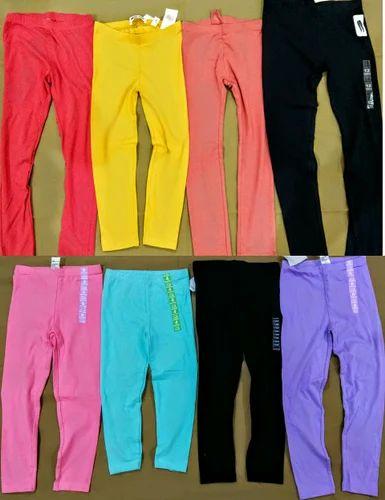 Kids Leggings, Girls Leggings, Export Surplus Garments