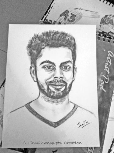 Virat kohli pencil sketch
