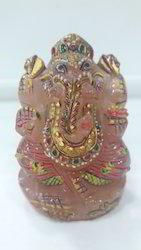 Rose Quartz Ganesh Idol