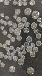Round Cut Polished Diamonds