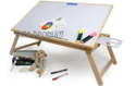 Ekta Product Wooden Folding White Board Table