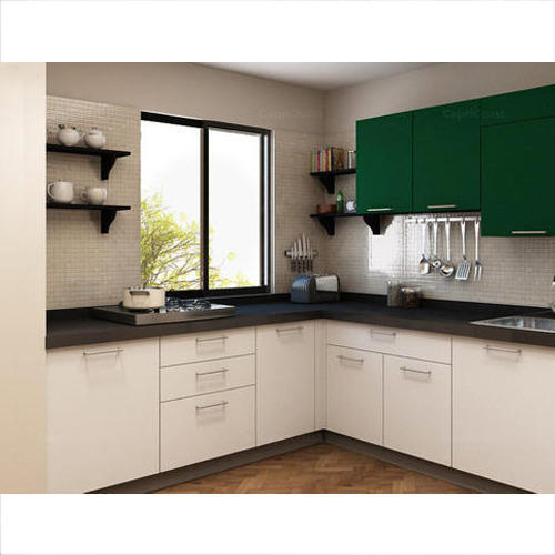 Indian Kitchens Modular Kitchens: L Shaped Modular Kitchen, Contemporary Kitchen Designer