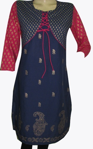 Cotton Golden Print Kurti