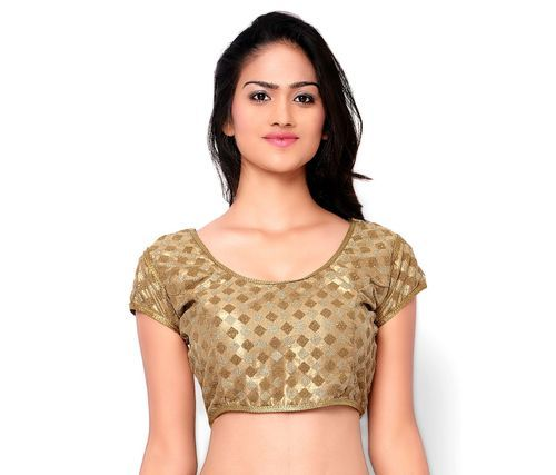 7f467f9b104 Net Gold Colour Blouse at Rs 500 /piece(s)   Designer Blouse   ID ...