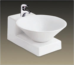 Ceramic Wall Mounted Designer Wash Basin, For Bathroom