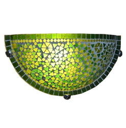 Green Mosaic Wall Uplighter