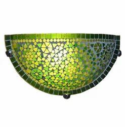Deshilp Overseas Glass Green Mosaic Wall Uplighter