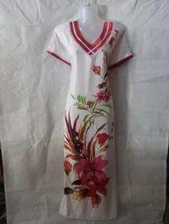 Nighties Printed Fine Quality Reyon Night Dress