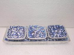 Blue Pottery Tray