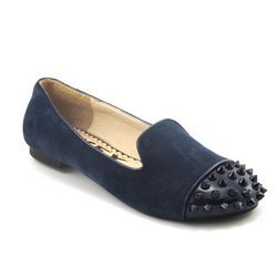 Flats & Sandals Black And Navy Blue Ladies Flats, Size: 6