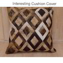 Indian Solid Leather Cushion Cover