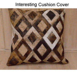 Buy Online Hair on Leather Cushion Cover By Rugs In Style