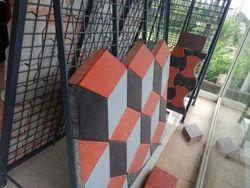 Mixed Diamond Interlocking Tiles
