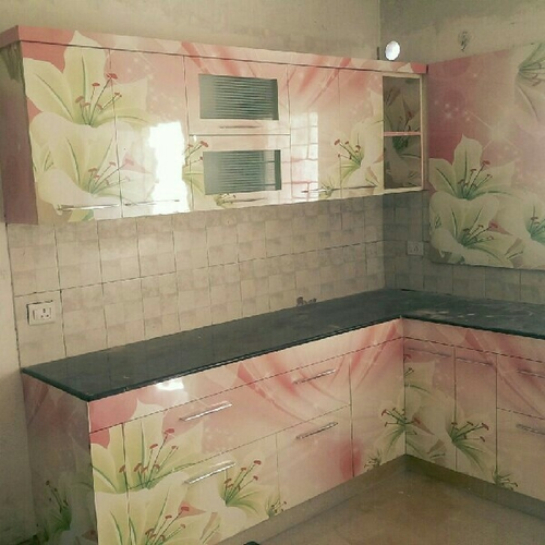 Floral Printed Modular Kitchen At Rs 1500 /square Feet