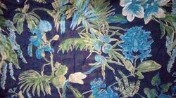 Flower Discharge Print Fabric