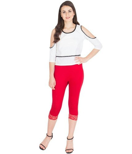 Stretchable Embroidered Girls Capris, Rs 140 /piece Lord Shiva Industries    ID: 19214880830