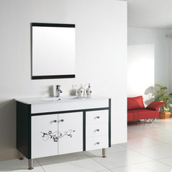Floor Mounted Vanity with Mirror