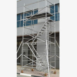 Double Width Tower Scaffold With Stair