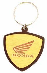 Designed Wooden Keychain