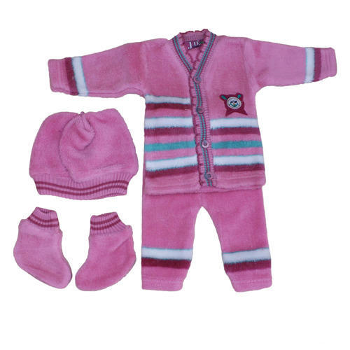 7f7fcb6f4 Baby Girls Pink With Stripes Striped Baby Sweaters
