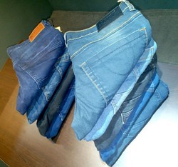 Plain and Faded Lycra and Cotton Mens Jeans, Waist Size: 34 and 36