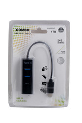 Speed Type C to USB 2.0 3 Port HUB With TF Card Slot